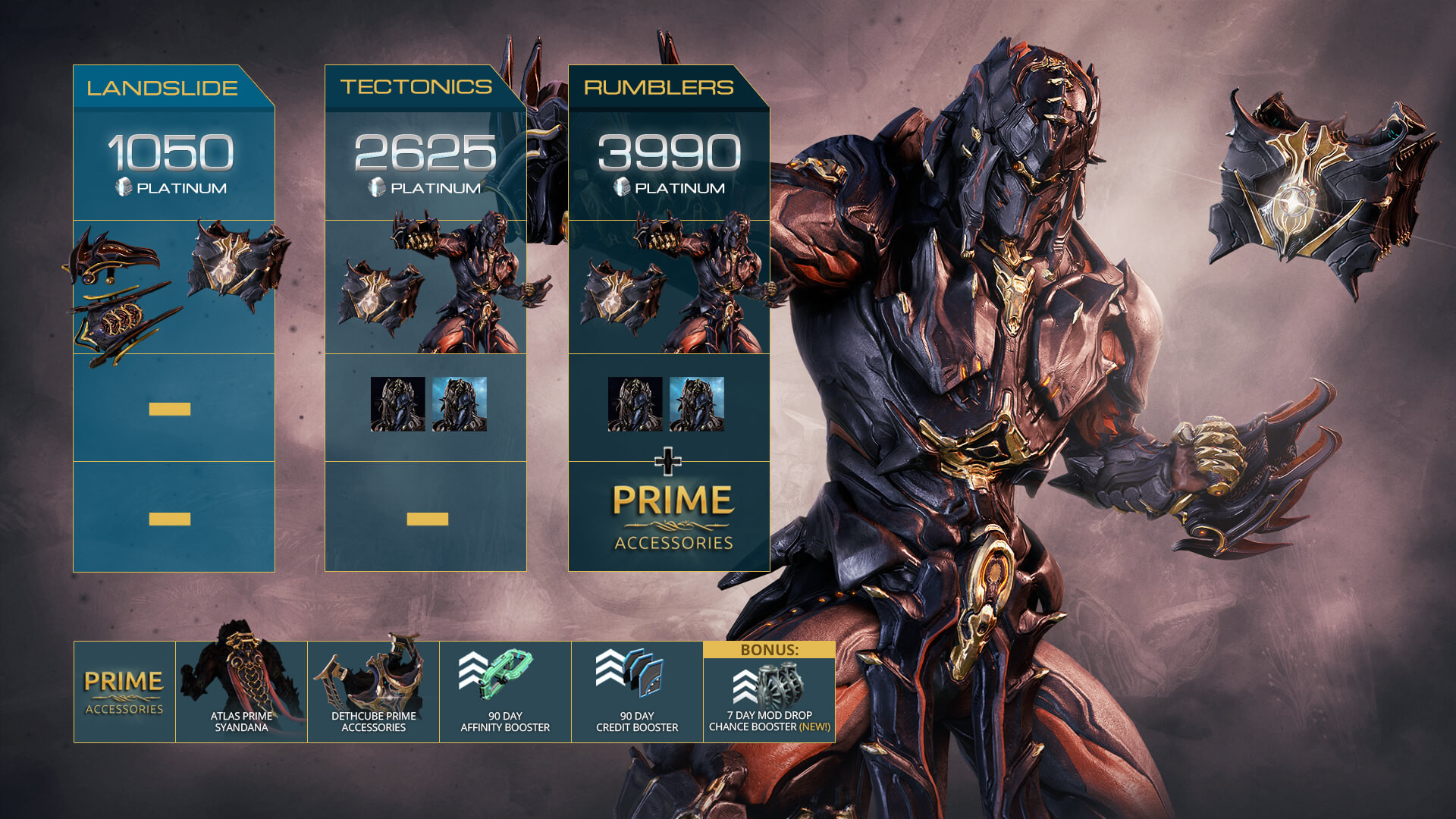 Buy Warframe Atlas Prime Access Accessories Pack Cd Key Best Deals Huntmar More than just being strong, he has a way. buy warframe atlas prime access